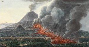 Picture 2-Mount Vesuvius eruption 1756, painting by Sir William Hamilton, vulcanologist (1730-1803)